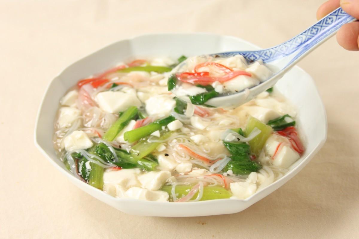 小松菜と豆腐のくずし煮