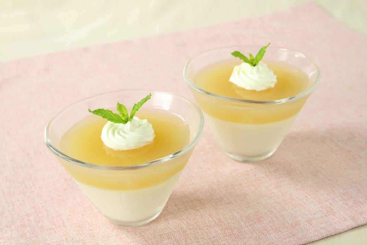 りんごジュースの寒天デザート